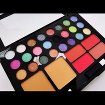 Kit Maquiagem 3d Ruby Rose 24 Sombras Blush Pó Porta Batom