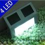 8 Luminárias Energia Solar 4 Led Aço Inox Muro,escada Parede