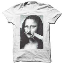 Camiseta Monalisa Bigode Pop Art Camisa Masculina Lançamento