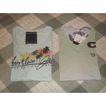 Lote 2 Camisetas Calvin Klein Ckj (armani, Side Walk, Gap)