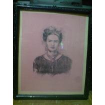 Frida Kahlo, Hermosa Pintura. Firmada A. Ramírez