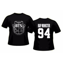 Camiseta Kpop Bts Jung Kook K-pop Rap Monster 94