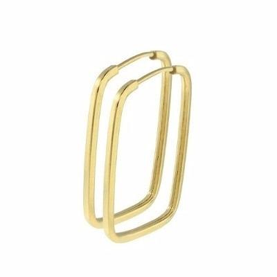Promoção Brinco De Argola Ouro 18k 750 Fio Quadrado + Brinde - R  178,00 em  Mercado Livre 9a906765d4