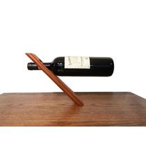 Portabotella De Vino En Madera Solida De Caoba