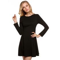 Vestido Negro Casual Para Dama Talla S