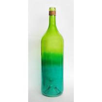 Florero Botella Vidrio Vacía Grande Jarrón Decoración Adorno