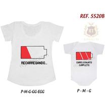 Kit Camiseta T-shirt + Body Tal Mãe Tal Filha(o) Loading...
