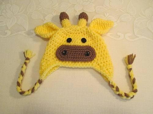 Touca Croche Infantil De Bichinhos Girafa Todos Os Tamanhos - R  79 ... 82a90e3bcec