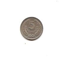 Uruguay Moneda De Nickel De 5 Cent.año 1953