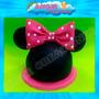 Minnie Disney Porcelana Fria Adorno Torta Cumpleaños