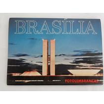 Cartão Postal Antigo De Brasília Com 12 Vistas Diferentes