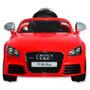 Auto Audi A Batería Para Niños Rojo