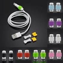 10 Pares Protectores Para Cable Usb De Iphone, Ipad, Ipod.
