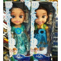 2 Bonecas Do Filme Frozen Disney Musical Elsa E Anna 35cm