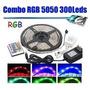 Cinta Led Combo 5050 Rgb 300leds 5mt Control / Transformador