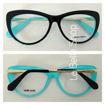 Armação Óculos De Grau Acetato Feminino Vmu01m