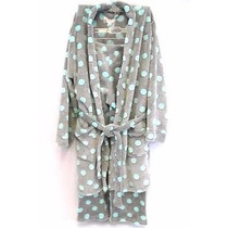 Pj Couture Set Pijama Dama 3 Pzas Lunares Con Bata Talla L
