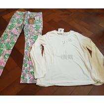Set De Pantalon + Remera Ml Cheeky Talle 8 (8 Años) Nena