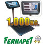 Balanza Pesa Digital 1000 Kg. Plataforma 80x60cm / Fernapet