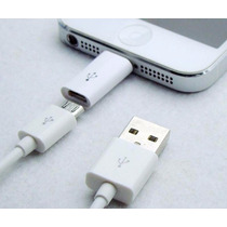 Convertidor Adaptador Usb V8 A Iphone 5 6 Ipad Ipod Air Mini