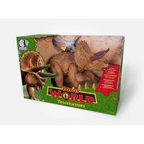 Boneco Dino World Triceratops 45cm C/ Som - Cotiplás.