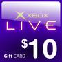 Xbox Live Game Card 10 Dolares Cuenta Americana Xboxone