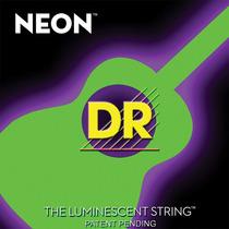 Cuerdas De Color Verde Dr Neon Para Guitarra Acustica 12-54
