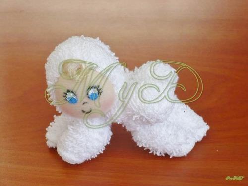 Recuerdo toalla beb baby shower bautizo 10 piezas 180 - Toalla con respaldo ...