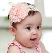 Tiara/ Faixa De Cabelo Flor C Renda Bebê E Menina