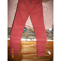 Pantalon Elastizado Color Ladrillo Talle 38/40 Nuevo