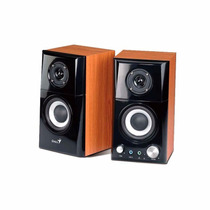 Parlantes Genius Sp Hf500a 2.0 14w Madera 2 Vías 220v Mp3 Pc