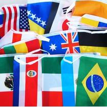 Banderines, Paq C/32 Banderas. Decora Negocio P/ Olimpiadas
