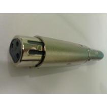 Plug Adaptador Xlr Fêmea P10 6.35mm Fêmea