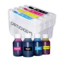 Cartucho Recarregável Xp 204, Xp 401, Xp 404 Xp 214 + Tinta