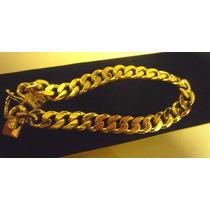 Esclava De Oro Amarillo De 18k