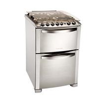Cocina A Gas Electrolux 56dtx Doble Horno 4 Hornallas