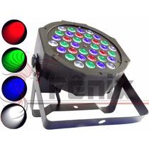 10 Refletor Par 64 36 Leds Cree De 1w Rgbw Dmx Slim Digital