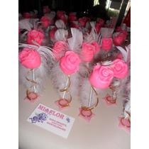 40 Souvenirs Rosas Con Pluma. 15 Años Casamiento