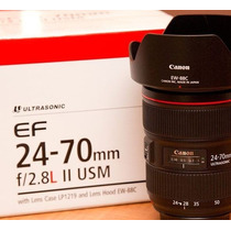 Lente Canon Nova 24-70mm F/2.8l Ii Usm Mercadolider Platinum