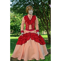 Vestido Prenda Gaúcha Tam. 4-6-8-10 C/ S Armação Mod. Anaê
