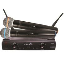 Microfone Sem Fio Duplo Uhf Lyco Uh-02mm Som Profissional