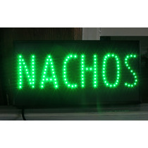 Anuncio De Led Nachos Bar Botana Comida Publicidad Letrero