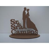 Topo De Bolo Sr & Sra - Casamento-personalizado