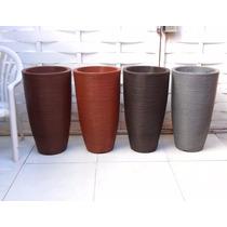 1 Vaso Bambu Artificial Mosso Aurea Folha Semente R 75x40 Cm