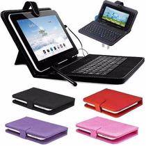 Funda Teclado Usb Para Tablet 7 Pulgadas Colores