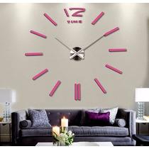 Relógio De Parede Decorativo Acrílico Espelhado Gigante 1,3m