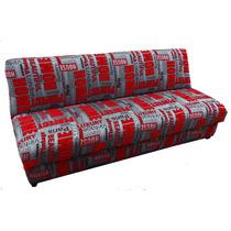 Sofa Cama Tymi Con Pillamera Tela Estampada 3 Posiciones