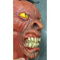 Halloween Cabeza Diablo Cuernos Satanas Craneo Solo Envios