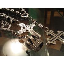 Rosarios De Calaveras Con Cruces O Amuletos (alpaca)