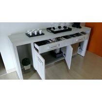 Aparador Sala Jantar C/ Espaço Decoração Gaveta Portas Usado